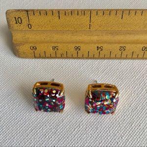 Kate Spade Glitter Earrings, Colors: Blue, Pink